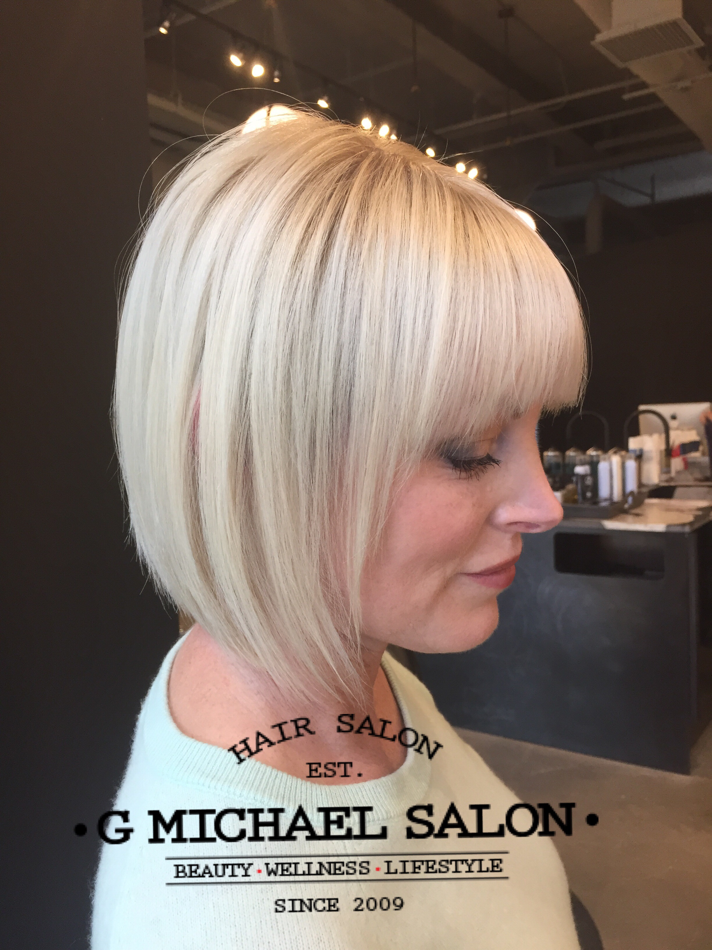 Precision Bobs And Platinum Blonde Hair Created By G Michael Salon